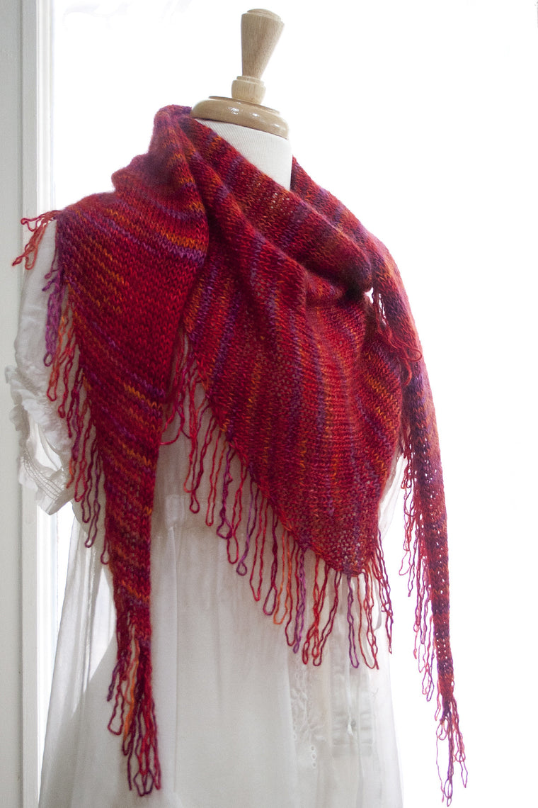 Ida Red Shawl - Free Pattern