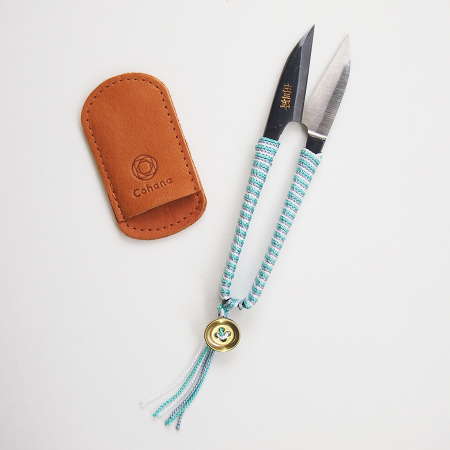 Cohana Shozaburo Thread Snips with Silk Braid