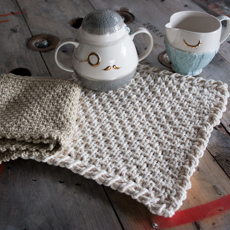 Half Linen Washcloth & Potholder - Free Pattern