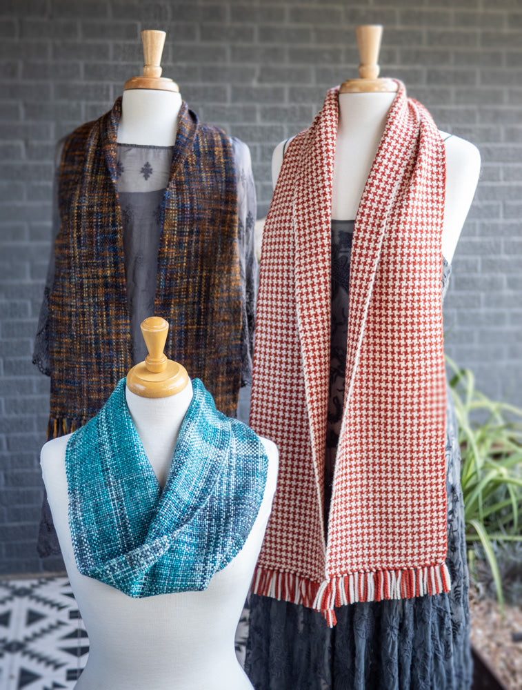 Weave it Three ways - Free Woven Scarf Patterns
