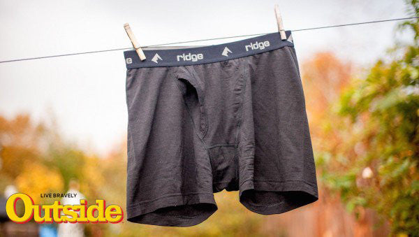 Outside Magazine Names Ridge Best Performance Underwear for Multi-day Off-the-Grid Trips