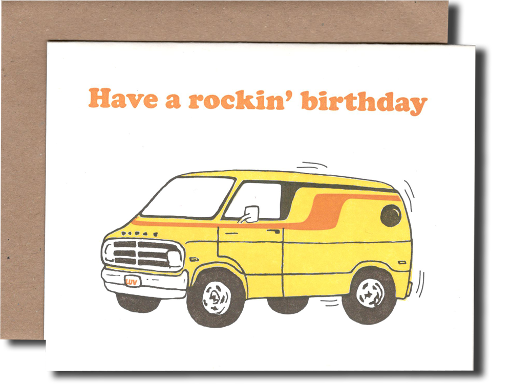 Rockin' Birthday Card - {neighborhood}