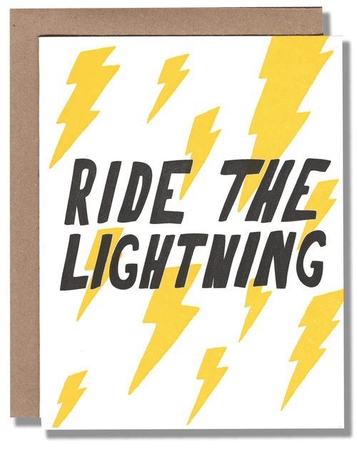 Ride the Lightning Card