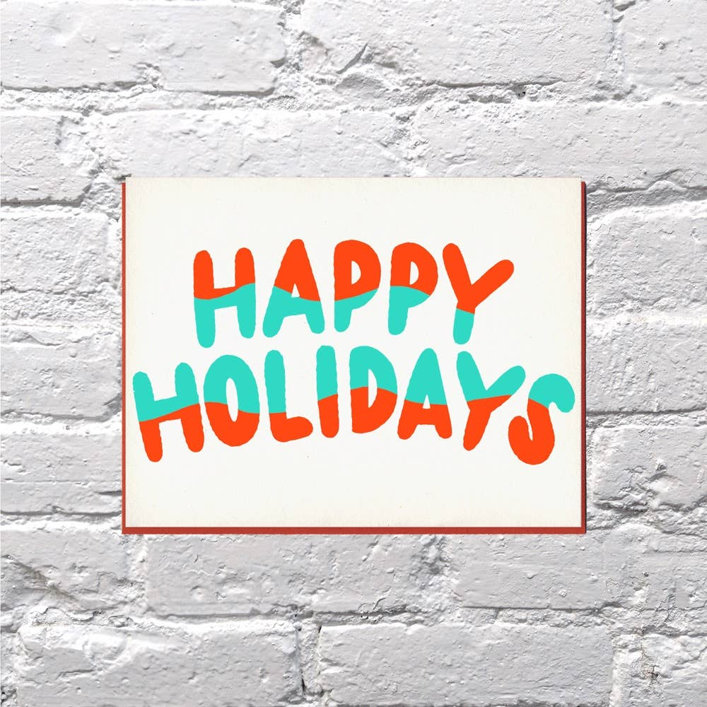 Wavy Holidays Card - {neighborhood}