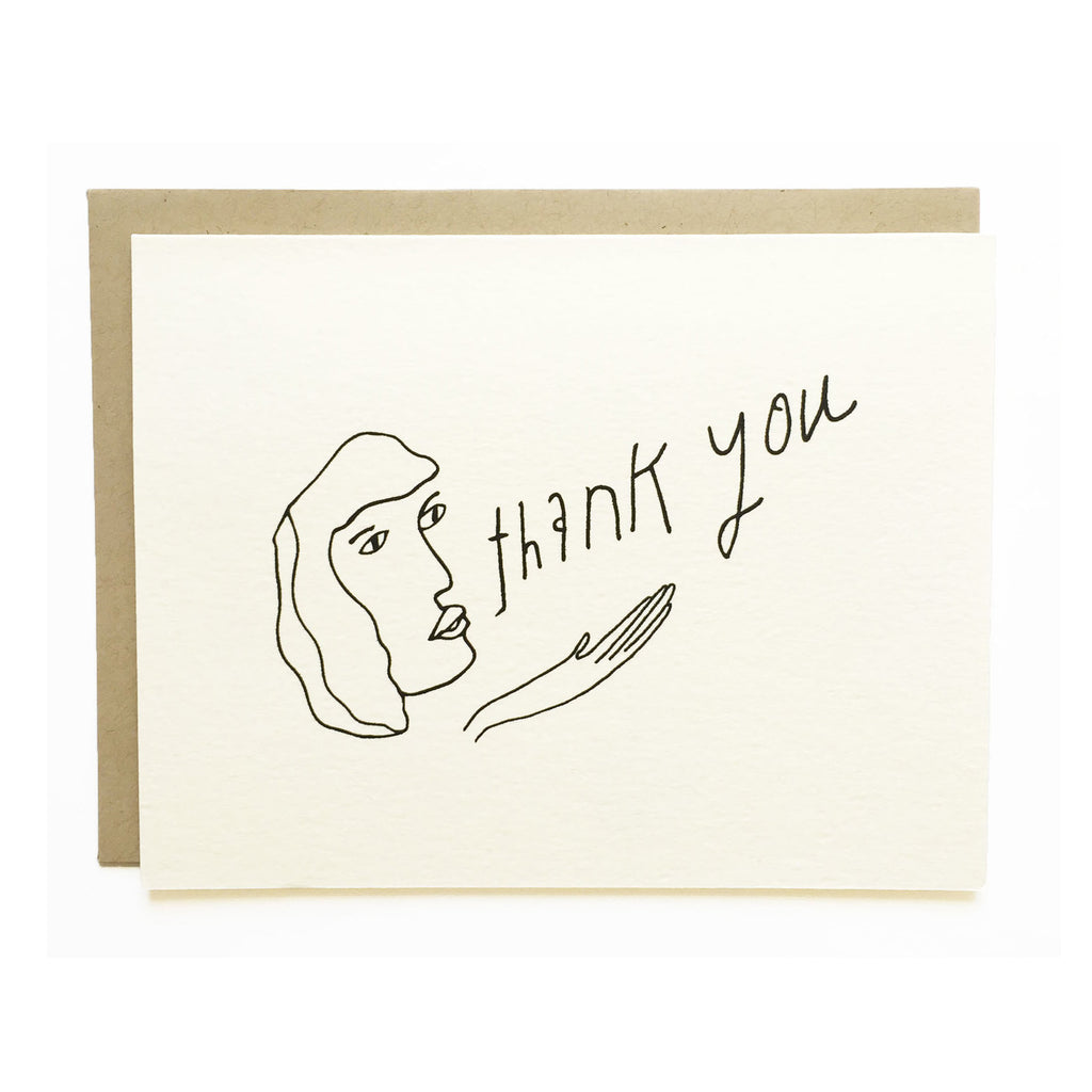 Blowing Thank You Card