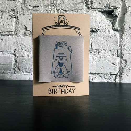 Beer Dog Koozie Card - {neighborhood}