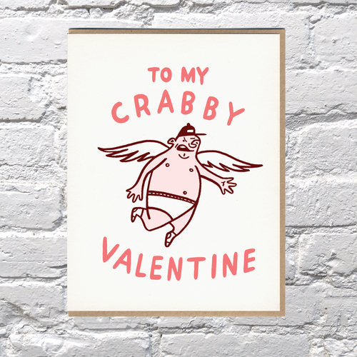Crabby Cupid Valentine Card - {neighborhood}