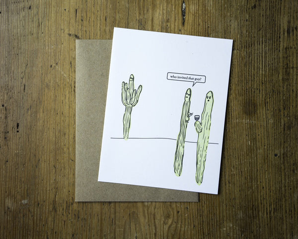Cactus Party Card - {neighborhood}