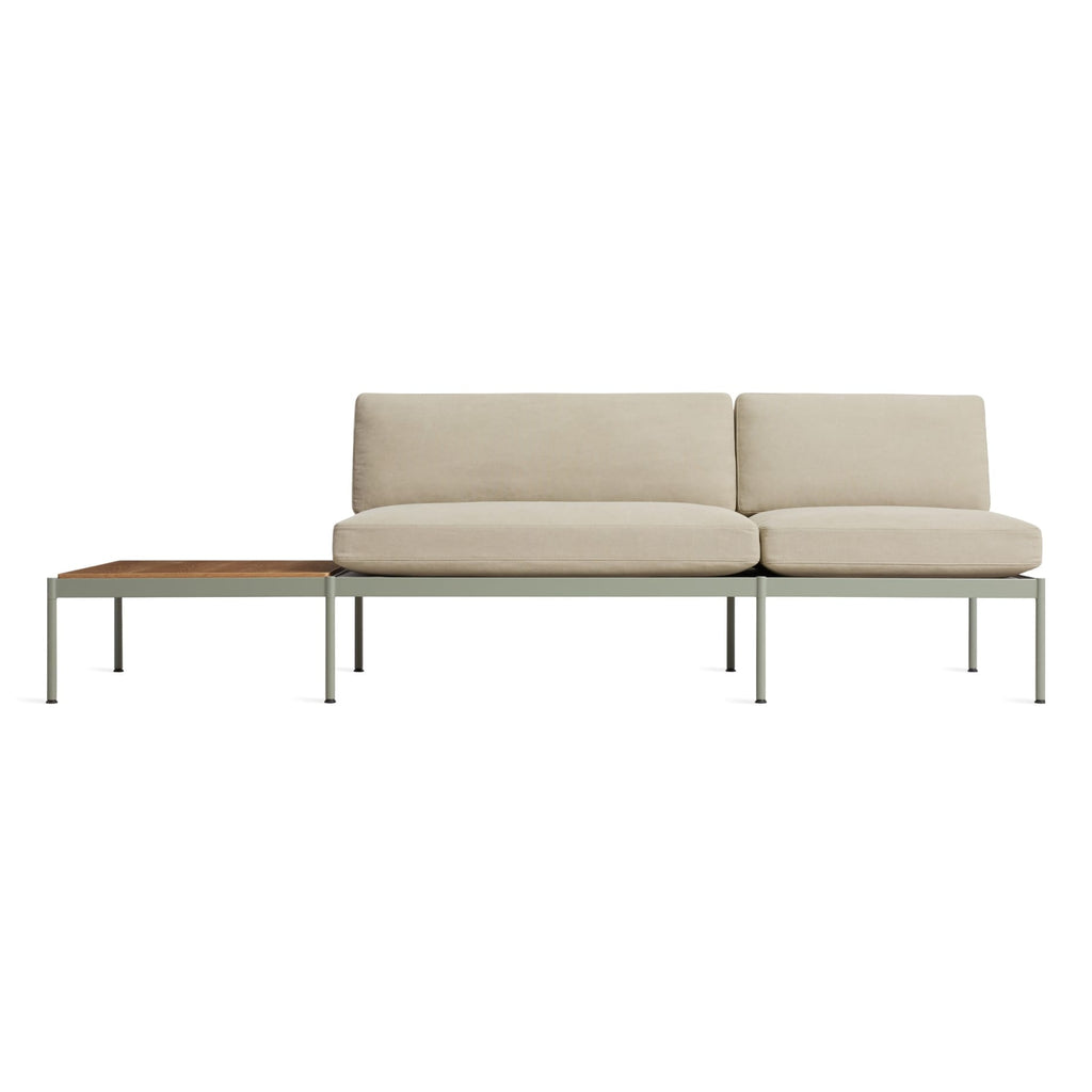 "Chassis 104"" Right/Left Sofa with Table - {neighborhood}"