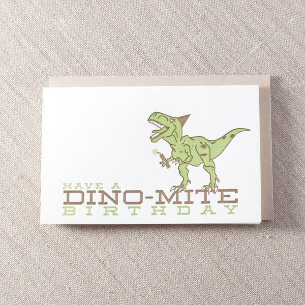 Dino-mite Birthday Card - {neighborhood}