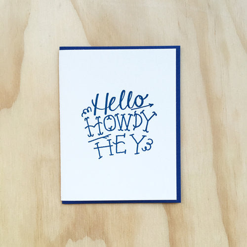 Hey Howdy Card - {neighborhood}