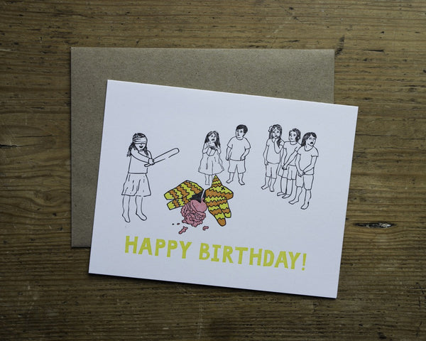 Pinata Birthday Card - {neighborhood}