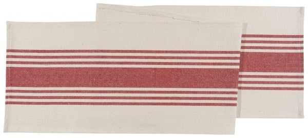 Canvas Chili Stripe Table Runner