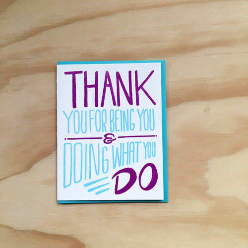 Thank You for You Card