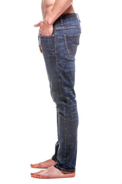 Mens 5 Pocket Skinny Jean Rinse