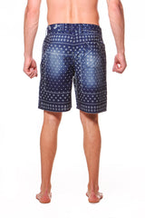 Drawstring Discharge Print Surf Short