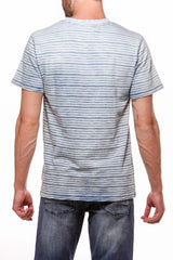 Indigo Striped Tee Light Wash