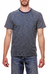 Indigo Striped Tee Dark Wash