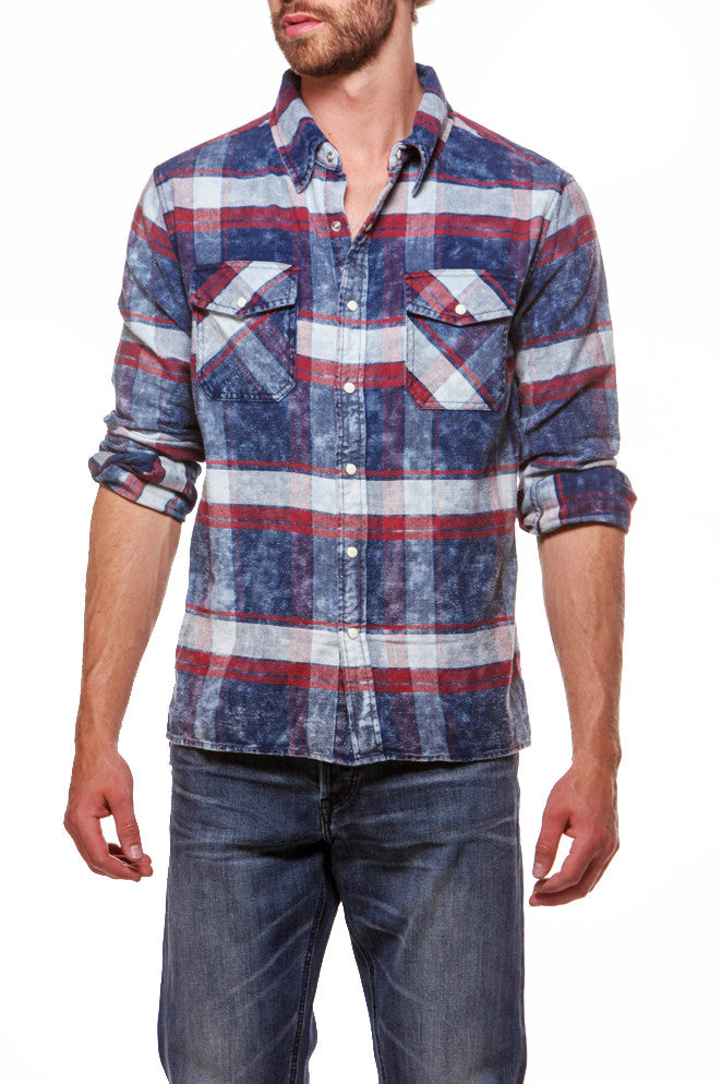 Lumber Shirt Red/Navy