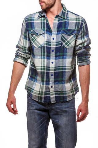 Cowboy Shirt Green/Blue