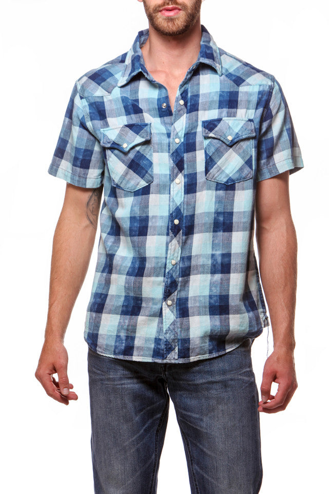 Cowboy Shirt - Short Sleeve Seafoam