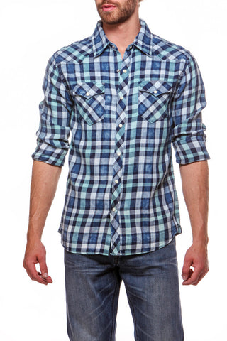Cowboy Shirt Blue Mint
