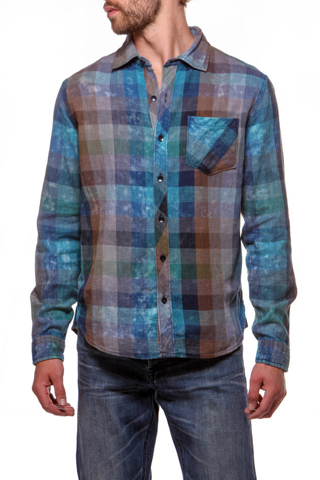 Dressy Shirt Emerald/Navy
