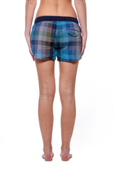 Dolphin Shorts Emerald Plaid