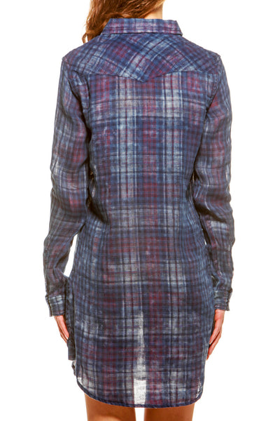 Womens Boyfriend Dress Classic Plaid