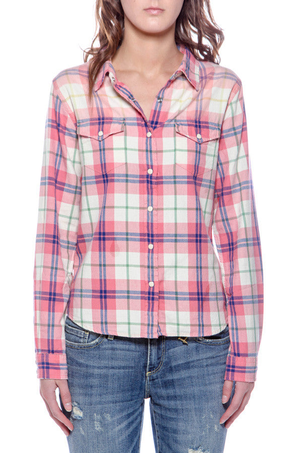 Women's Plaid shirt w/ Elephan