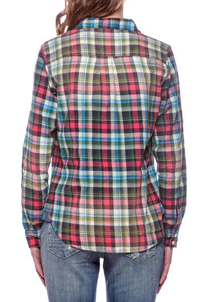 Women's Plaid shirt w/ Emb Yok