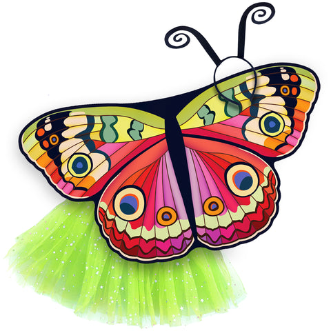 Butterfly Halloween Costume Kids Bebearia Wing Cape Tutu Dance Wings