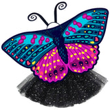 Butterfly Halloween Costume Kids Checkerspot Wing Cape Tutu Dance Wings
