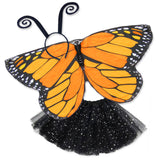 Butterfly Halloween Costume Kids Orange Monarch Wing Cape Tutu Dance Wings