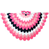 Bird Cape Flamingo Costume with Kids Bird Wings and Mask