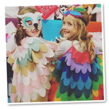 Bird Cape Rainbow  Kids Owl Costume with Bird Wings and Mask