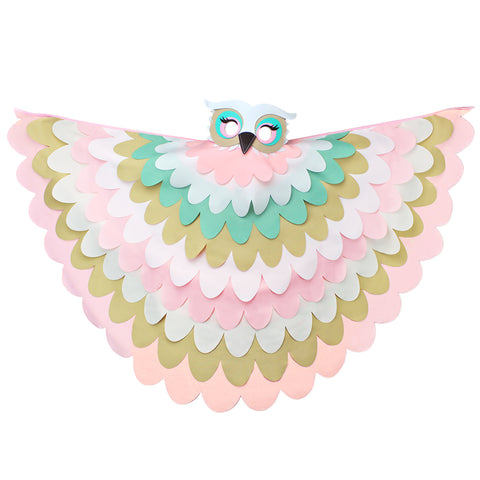 Bird Cape Pastel Owl Costume with Kids Bird Wings and Mask