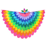 Bird Cape Rainbow Costume with Kids Bird Wings and Mask