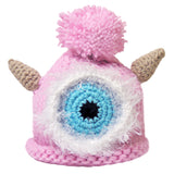 "Crocheted Baby Monster Hat Newborn Knit Cap Light Pink ""La"""