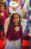 3-Piece Sparkle Angel Costume Set with Wings, Tutu & Headband