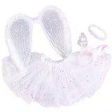 Knotty Kid - Girls Angel Costume Set with Sparkle Wings Tutu and Headband