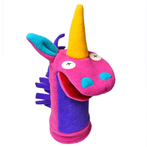 Cuddly Unicorn Fleece Hand Puppet