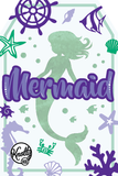 Girls Mermaid Costume Box with Dress, Tail, Crown & Accessories for Kids
