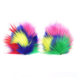 Crazy Furry Pointed Cat or Wolf Ears Animal Costume Accessories Cosplay Round Ear Clips