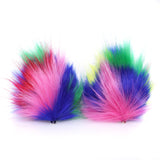 Crazy Furry Pointed Cat or Wolf Ears Animal Costume Accessories Cosplay Ear Clips