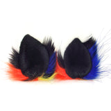 Knotty Kid - Furry Ear Clips Crazy Colorful Fur Pointed Cat Ears Costume Party Wolf Accessories