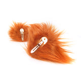 Natural Red Furry Fox Ears Animal Costume Accessories Cosplay Ear Clips
