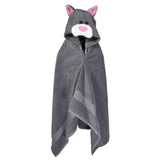 Hooded Children's Towels Kids Bath Towel Cat