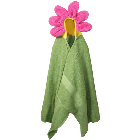 Hooded Children's Towels Kids Bath Towel Flower