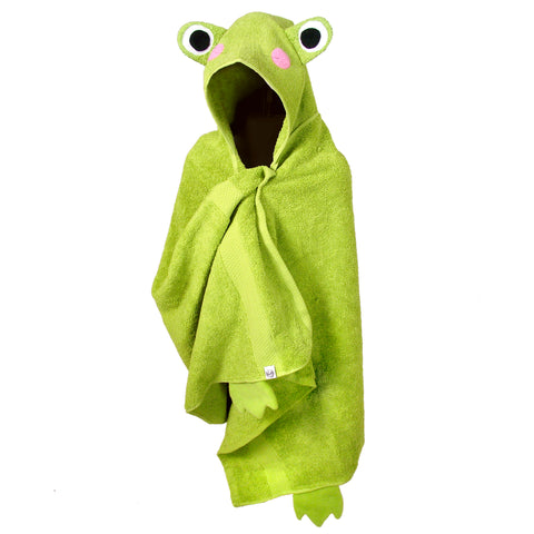 Hooded Towel Frog Bath Towels for Children and Adults – Knotty Kid